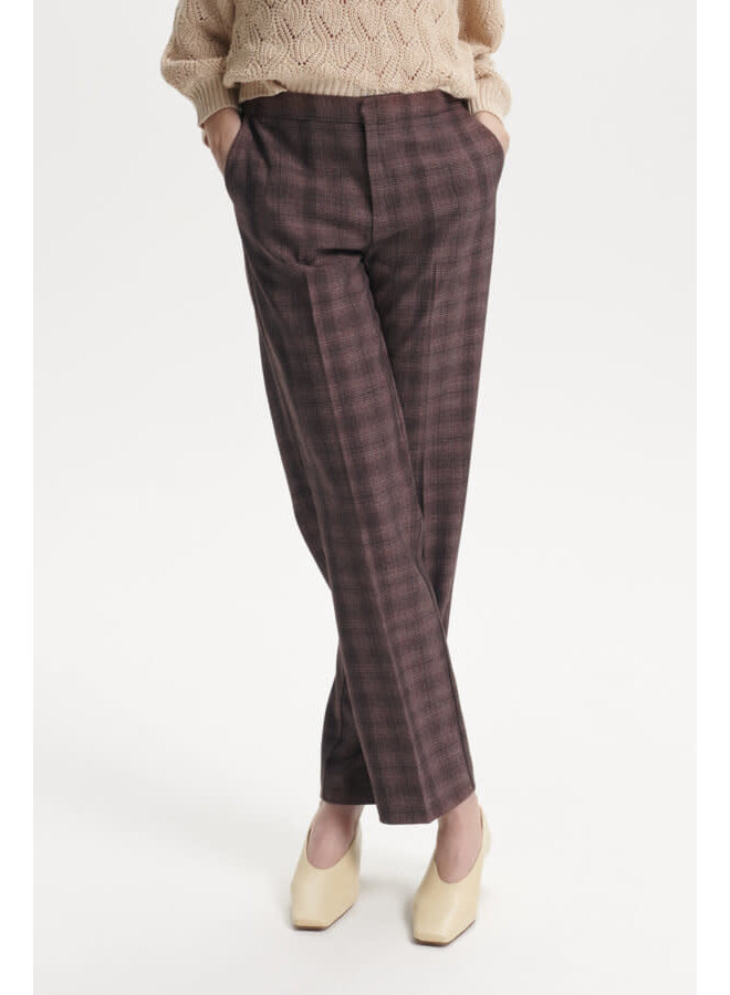 SLNalea Pants | brown suiting check