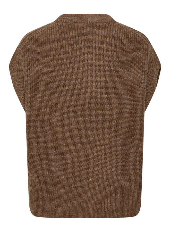 SLMillicent Vest   brownie melange