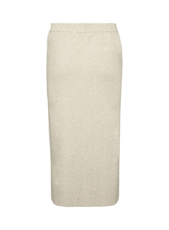LnNoian Knit Skirt EV | oat melange