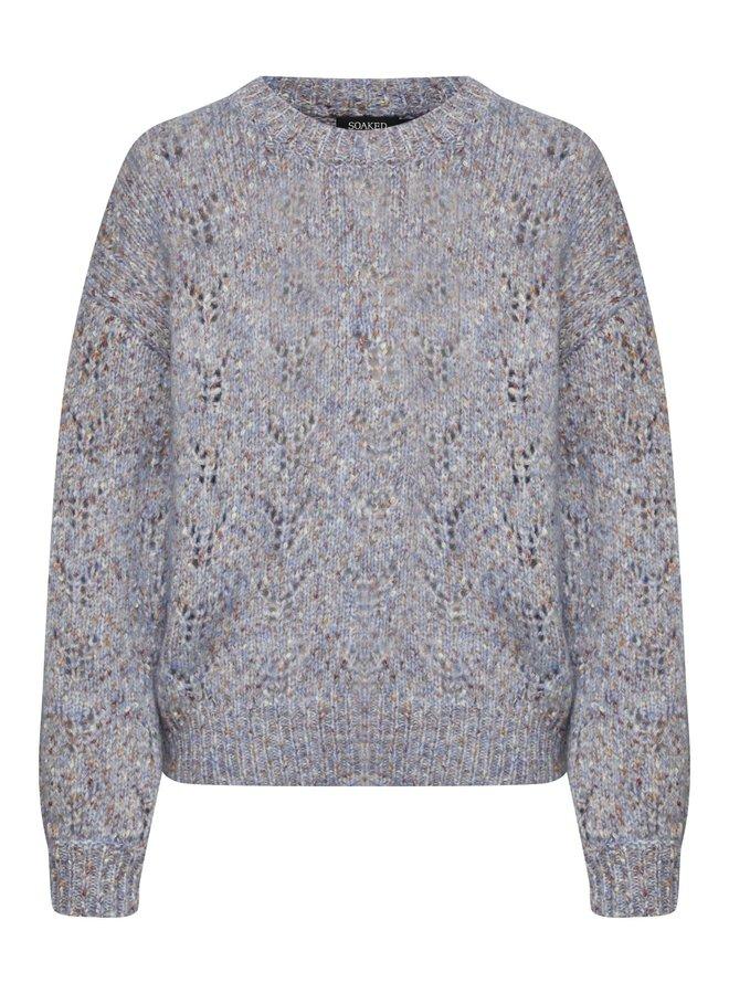 SLAnabelle Pullover LS | shirt blue neps