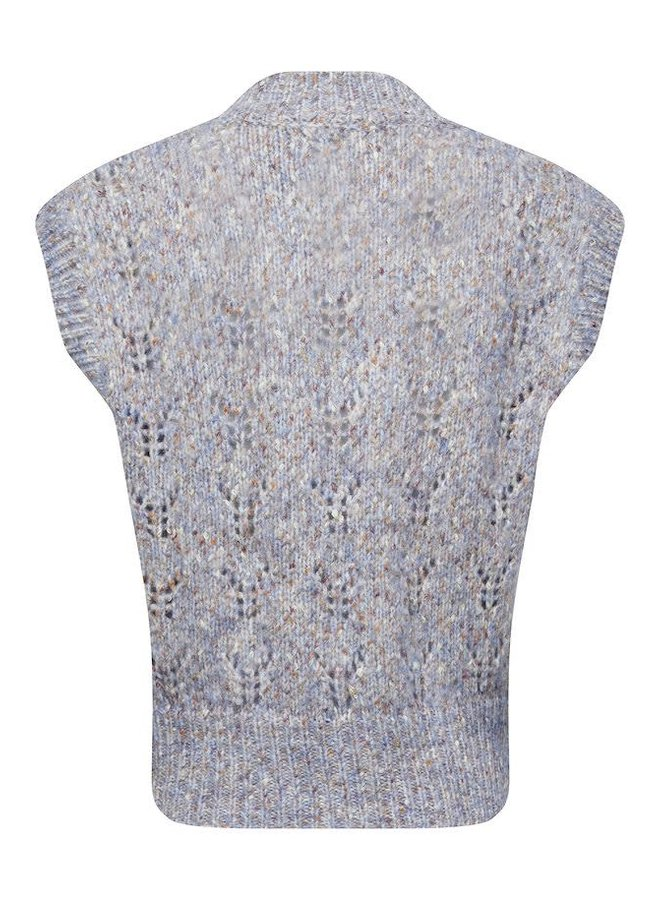 SLAnabelle Vest   shirt blue neps