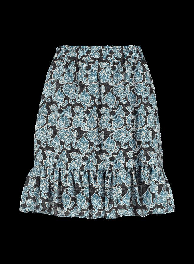 MABEL PAISLEY VIS 519   saphire blue dessin