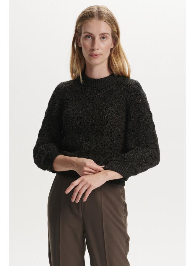 SLPointa Pullover 3/4 | black melange