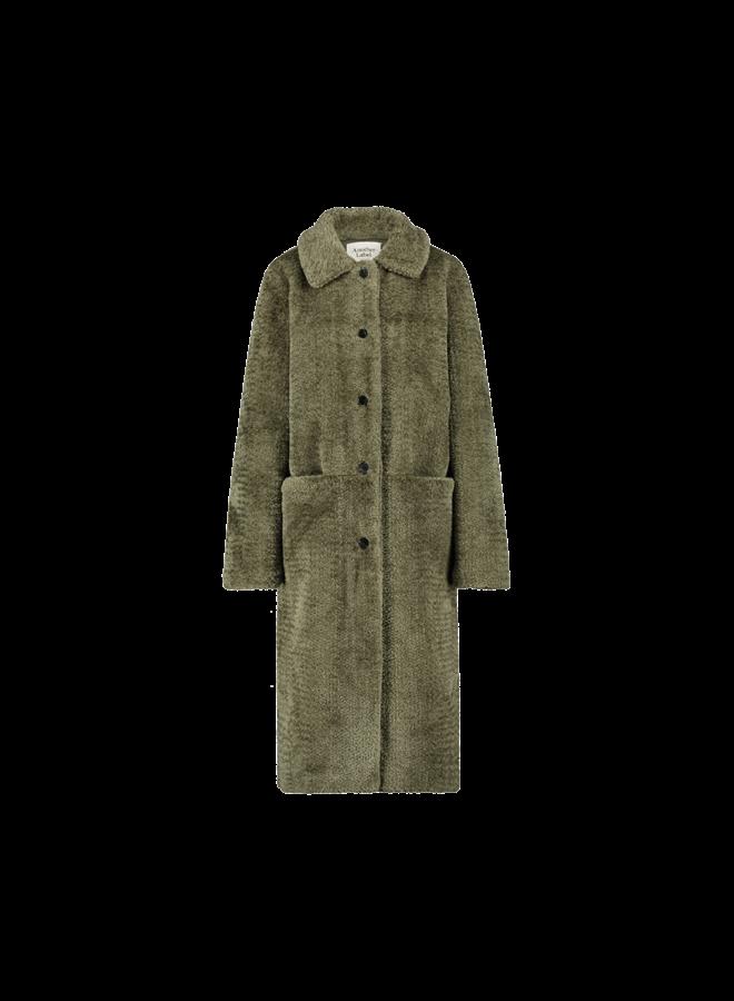 Moussy coat| ivy green