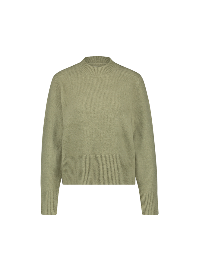 Dee knitted pull l/s  tea green