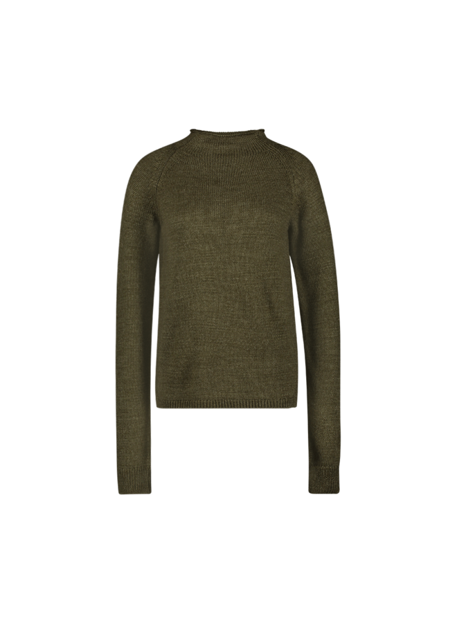 Mace knitted pull l/s| ivy green