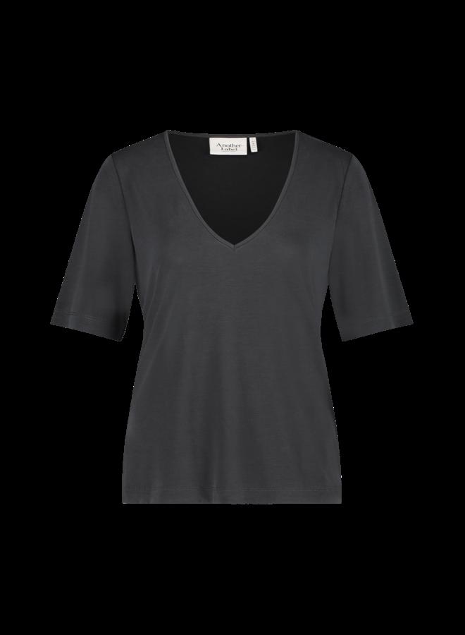 Magnolia v-neck t-shirt s/s| black