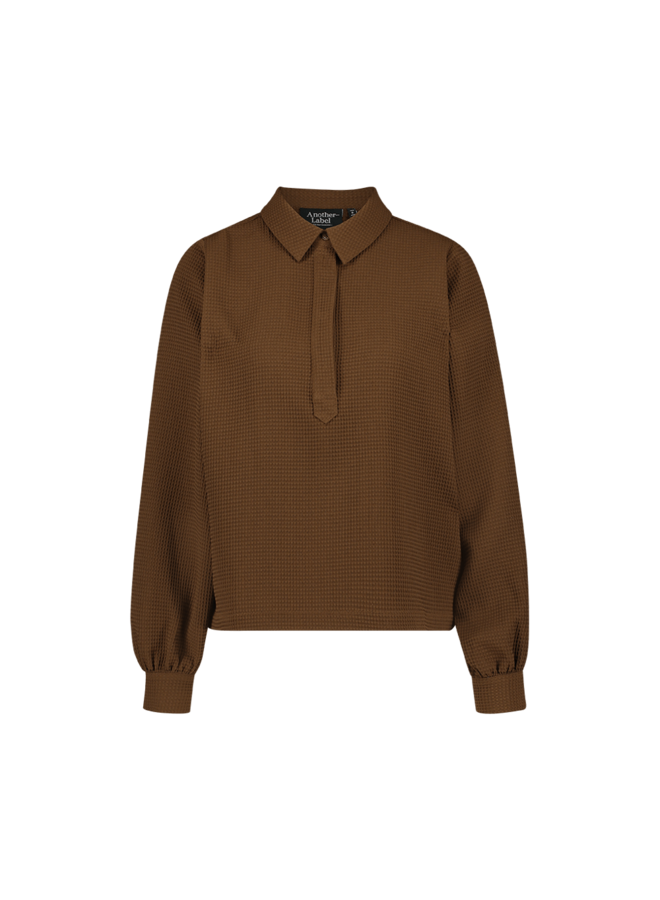 Dionne top l/s| chocolate brown
