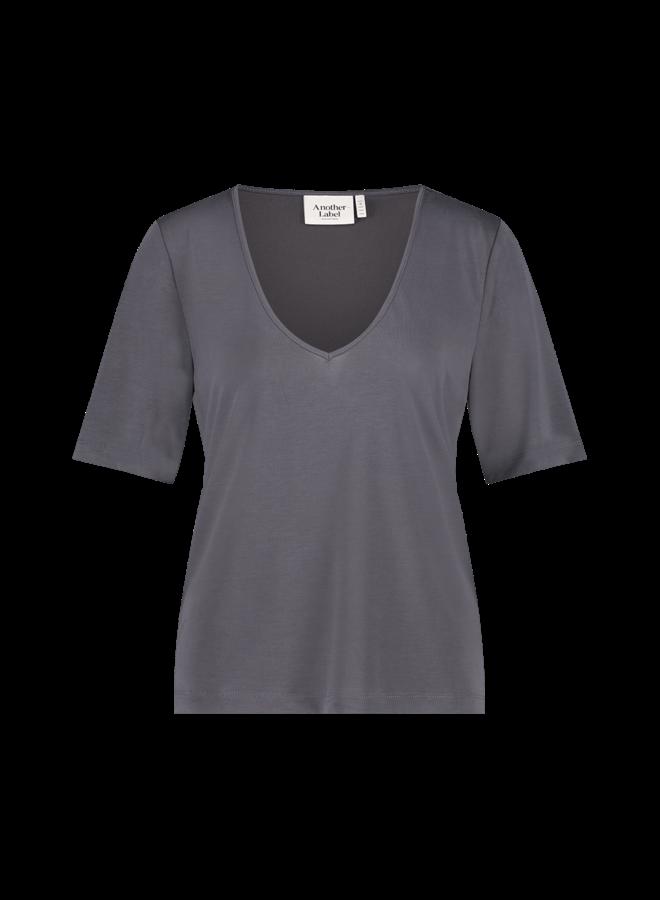 Magnolia v-neck t-shirt s/s  iron grey