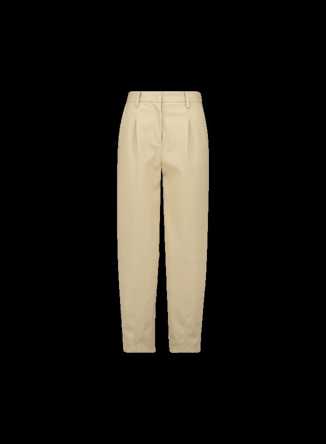 Delfine faux leather pants| beige