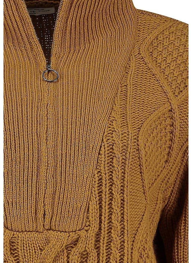 LEA KNIT COL | cozy brown