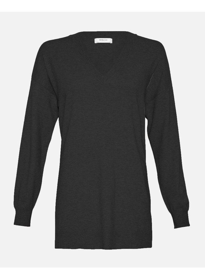 Galine Rachelle V Neck Pullover   black