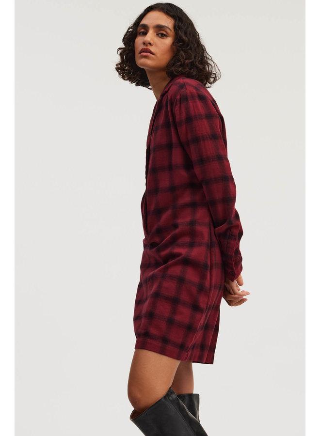 JAMIE DRESS CC | rhubarb red