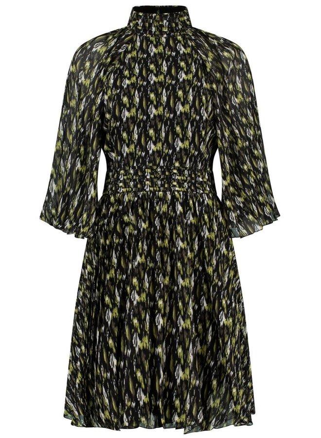 NOELLE DRESS | wild ikat print