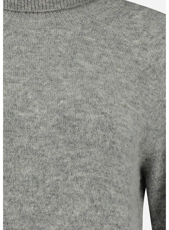 BIRDIE KNIT COL   light grey melange