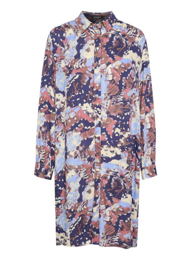 SLMayana Shirt Dress LS   fall garden print
