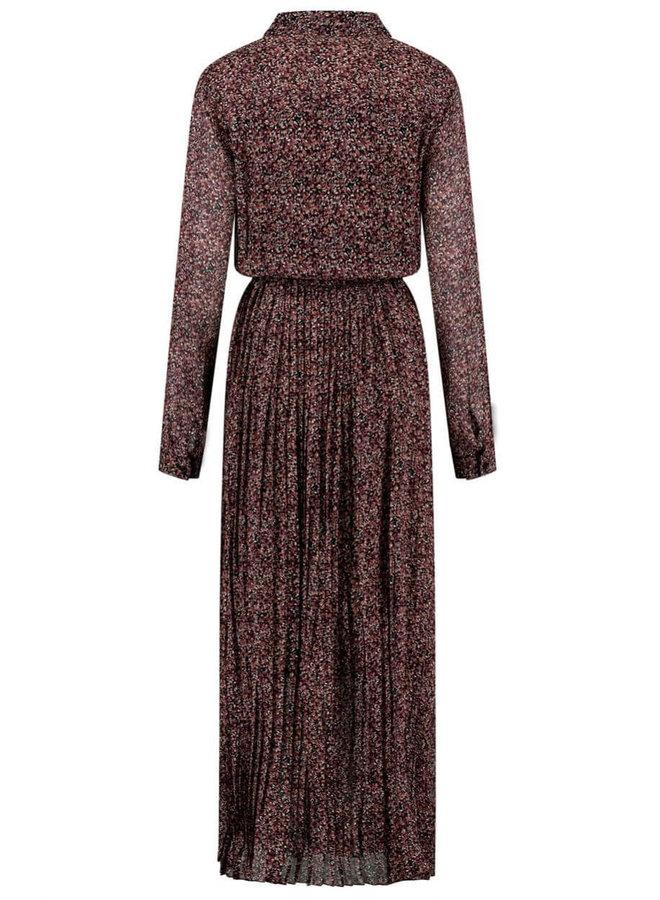 CHARLOTTE DRESS | warm drips print