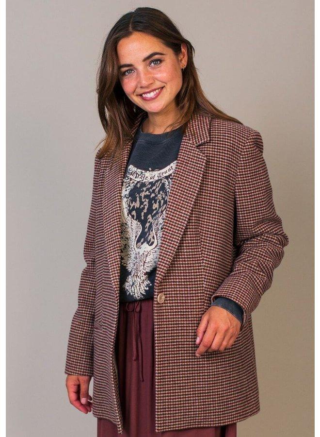 NOUNA BLAZER | bombay brown check
