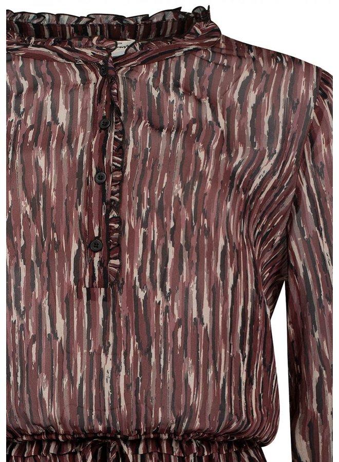 Farrow Dress   2006 strong stripes print