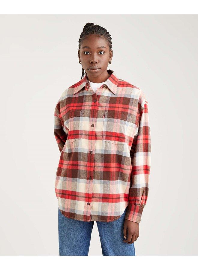 Remi Utility Shirt   rosie plaid
