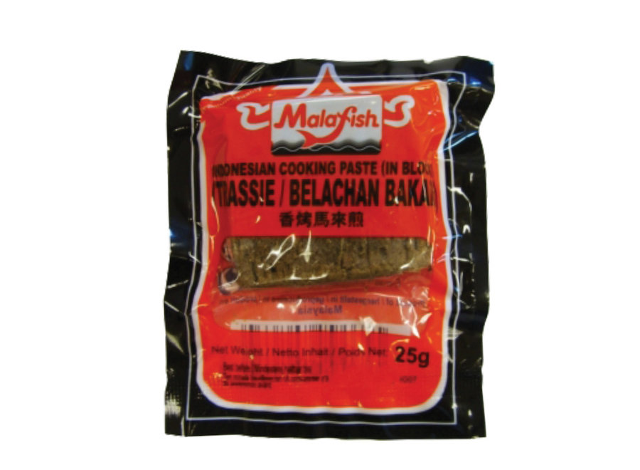 Malafish Indonesian Cooking Paste Trassie Bakar 25 G