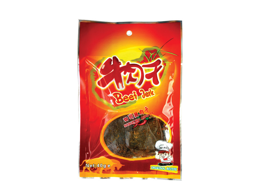 Beef Jerky - Sichuan Hot & Spicy Flavour