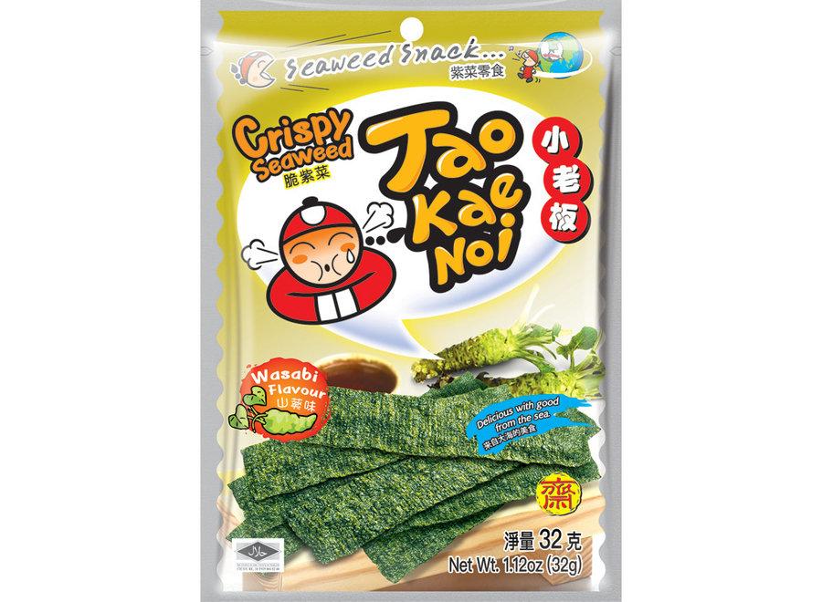 Tao Kae Noi - Zeewier chips - Wasabi Smaak