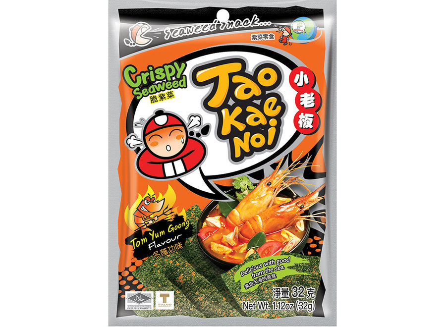 Tao Kae Noi Crispy Seaweed Tom Yum Goong 32 G