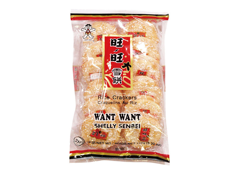 Want Want Shelly Senbei Rice Crackers 150 G