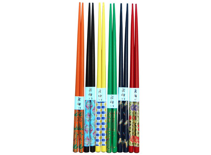 NF Chopsticks 22.5cm Floral Assorted 1 set