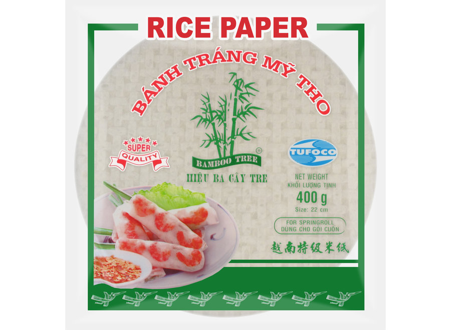 Bamboo Tree Rice Paper 22 CM. (Spring Roll) 400 G
