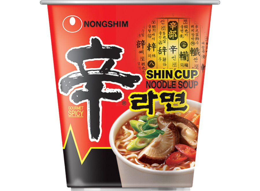 Nongshim Noodle Spicy Shin Cup 68 G