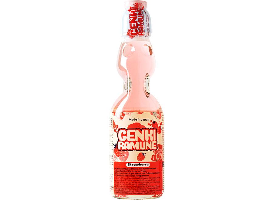 Genki Ramune Strawberry Drink 200 ml