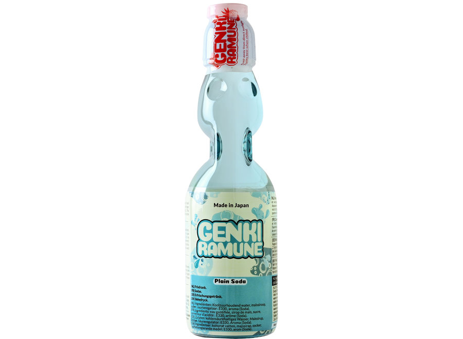 Genki Ramune Plain Soda Drink 200 ml