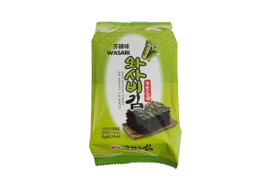 Kwangcheon Wasabi Flavoured Seaweed 8X4 G