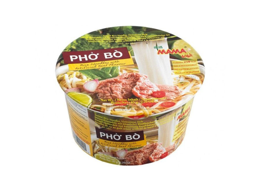 Mama Instant Rice Noodle Pho Bo Bowl 65 Gr