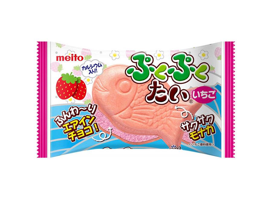 Meito Puku Puku Tai Chocolate Strawberry 16.5G