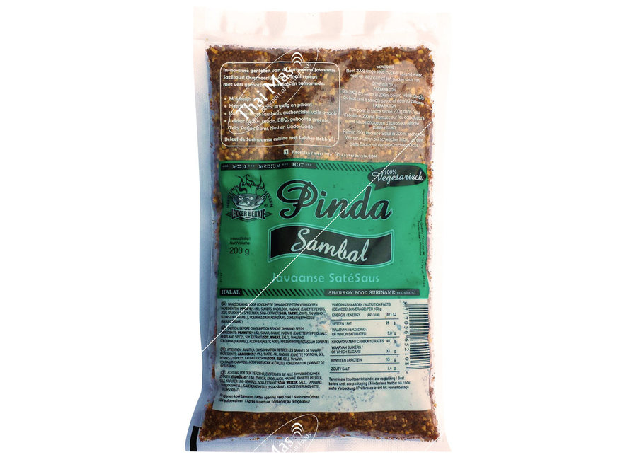Lekker-Bekkie Peanut Sambal Veg. 200g