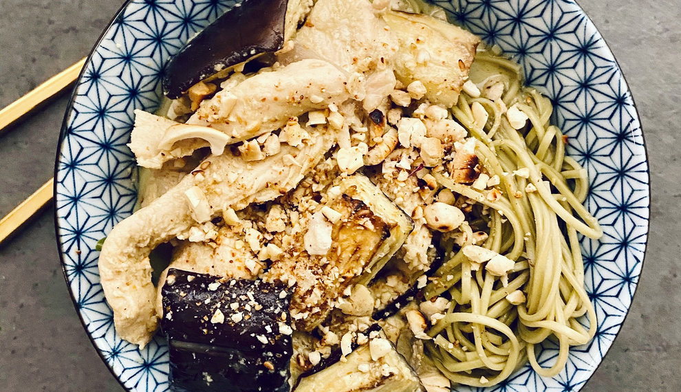 Groene Curry met Cha Noodles
