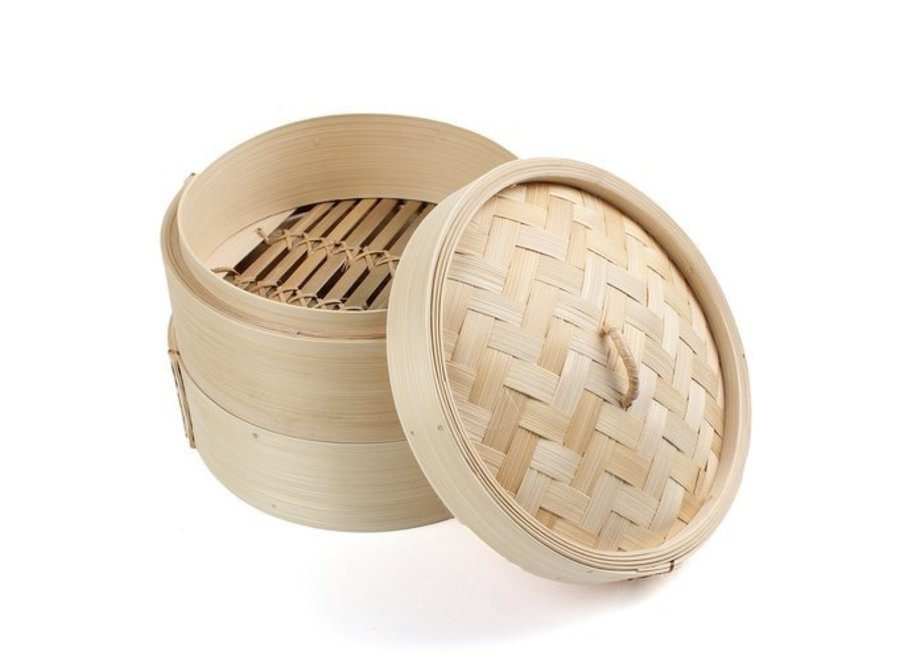 """NF Bamboo Steamer with Lid 15cm - 6"""", 2+1 set"""