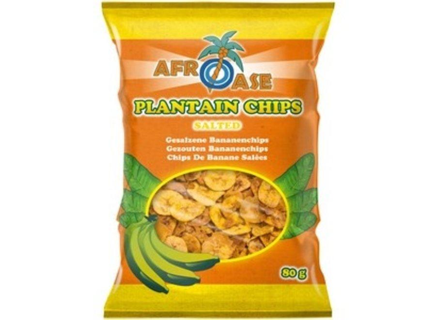 Afroase Bananen Chips Gezouten 80 GR