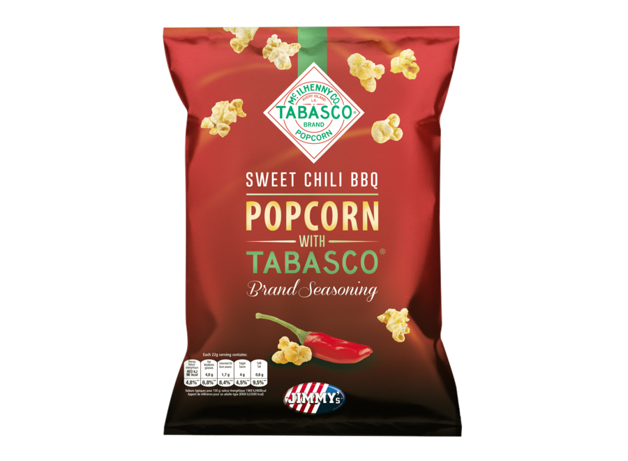 Jimmy's Popcorn TABASCO® Sweet Chili BBQ 24g Classic-Popped