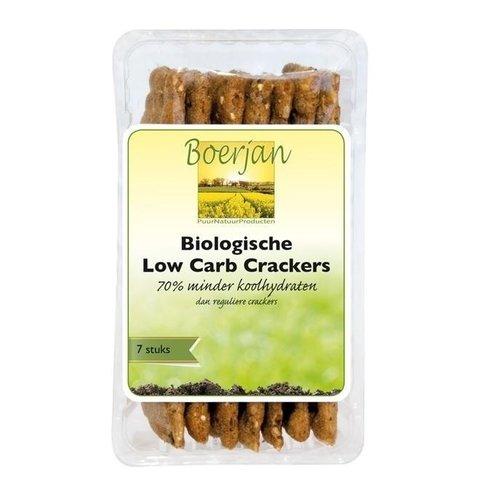 Boerjan Boerjan Koolhydraatarme Cracker Naturel Bio