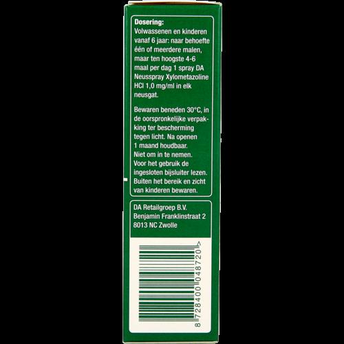 DA Da Neusspray Xylometazoline 0.1% 10ml