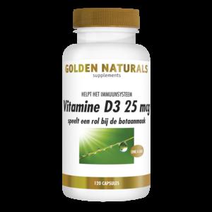 Golden Naturals Golden Naturals Vitamine D3 25mcg 120soft
