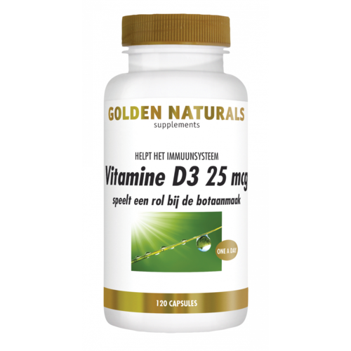 Golden Naturals Golden Naturals Vitamine D3 25mcg 120soft