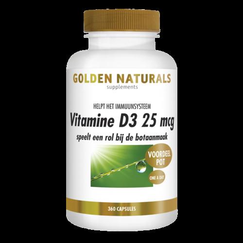 Golden Naturals Golden Naturals Vitamine D3 25mcg 360soft