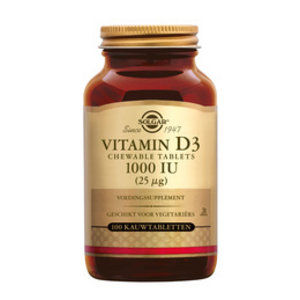Solgar Solgar Vitamins D3 25mcg 100chew