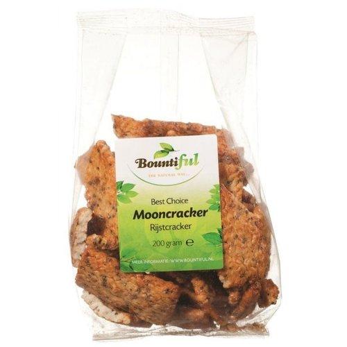 Bountiful Bountiful rijstcrackers mooncrack 200gr