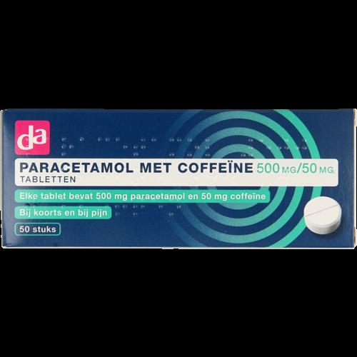 DA DA Paracetamol met coffeine 500mg/50mg tab